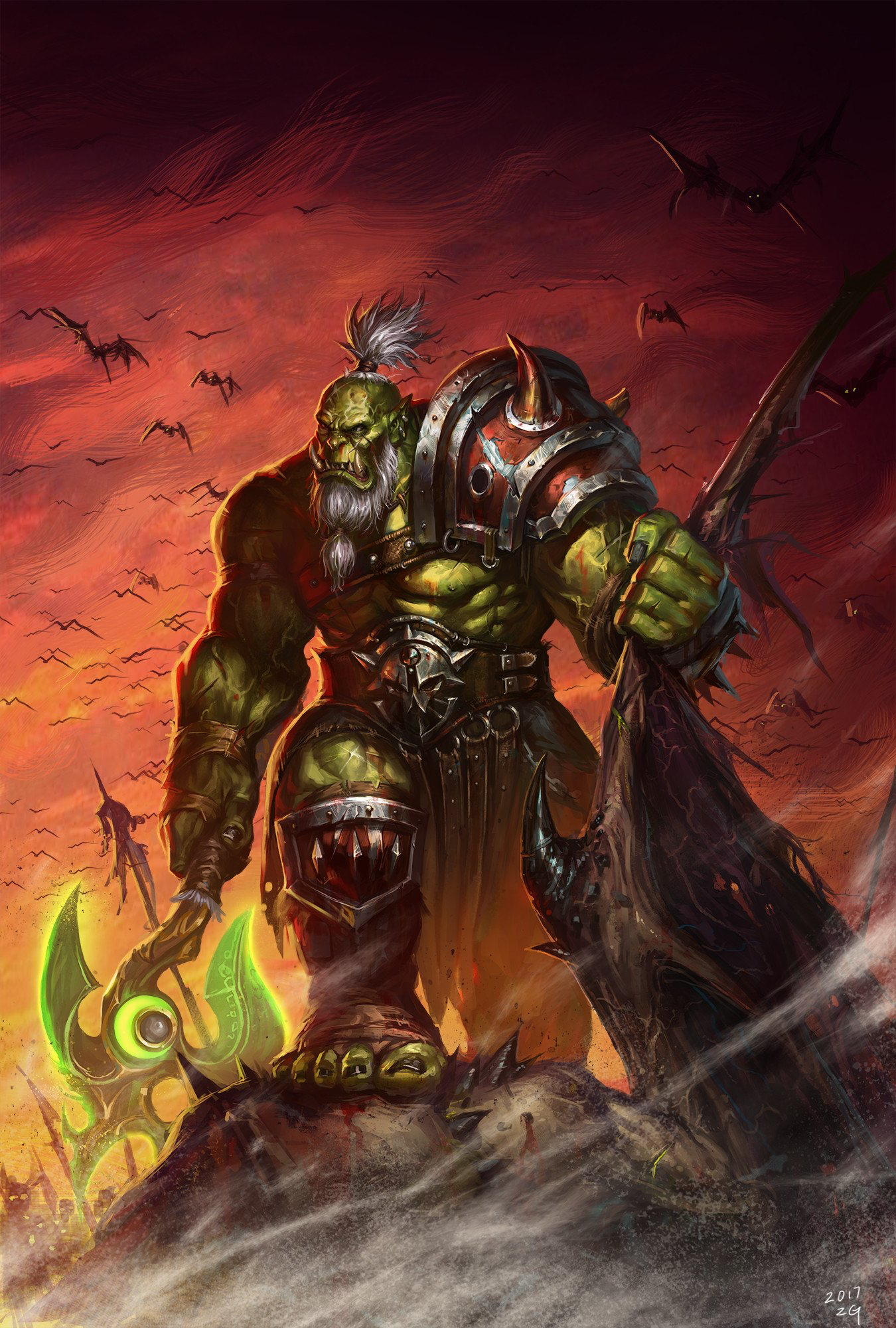 Pin By Kevin Daignault On Fantasy Half Orcs Orcs Warcraft Art