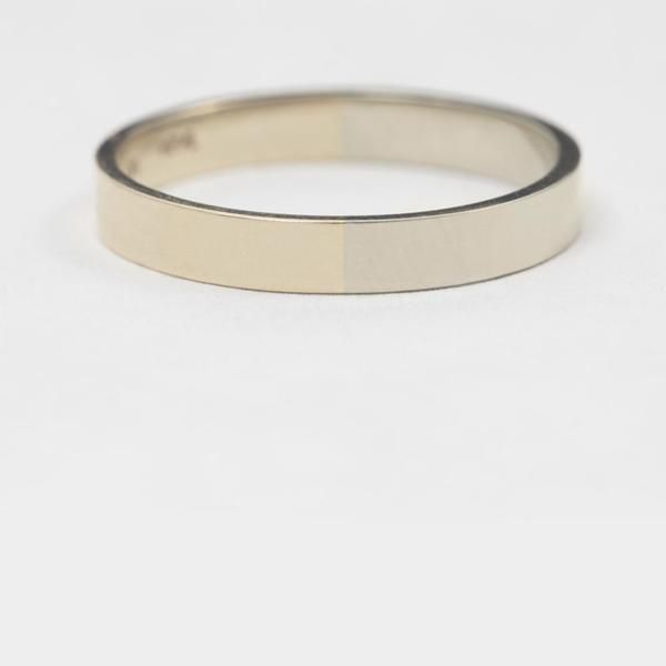 3mm Yellow and White Gold Band – Still House NYC