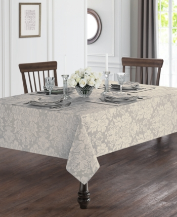 Waterford Berrigan Silver 70 X 126 Tablecloth Silver