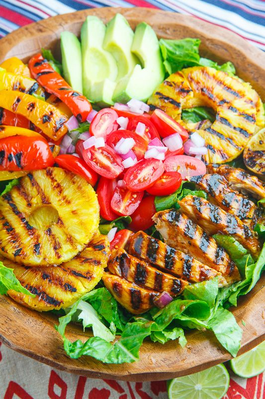 Sriracha Honey Lime Grilled Chicken and Pineapple Salad