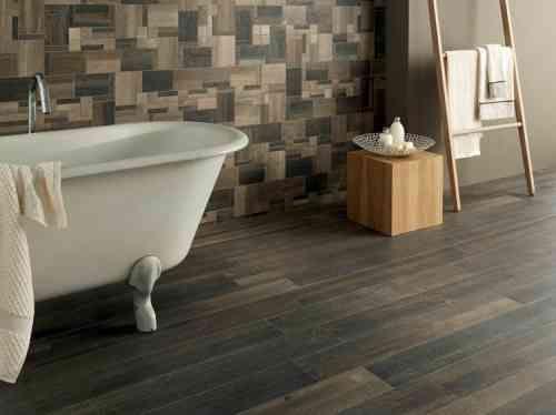 Carrelage salle de bain imitation bois pour un décor chaleureux ...