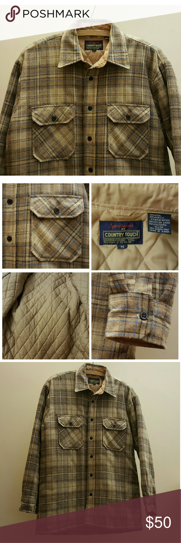 Flannel jacket with wool lining  Wool Flannel Quilted Sportsmen Field Jacket  Flannel quilts Field