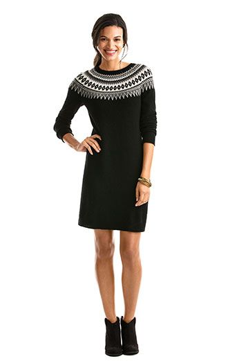 Shop our new Womens's Yoke Fairisle Sweater Dress. | Vineyard ...