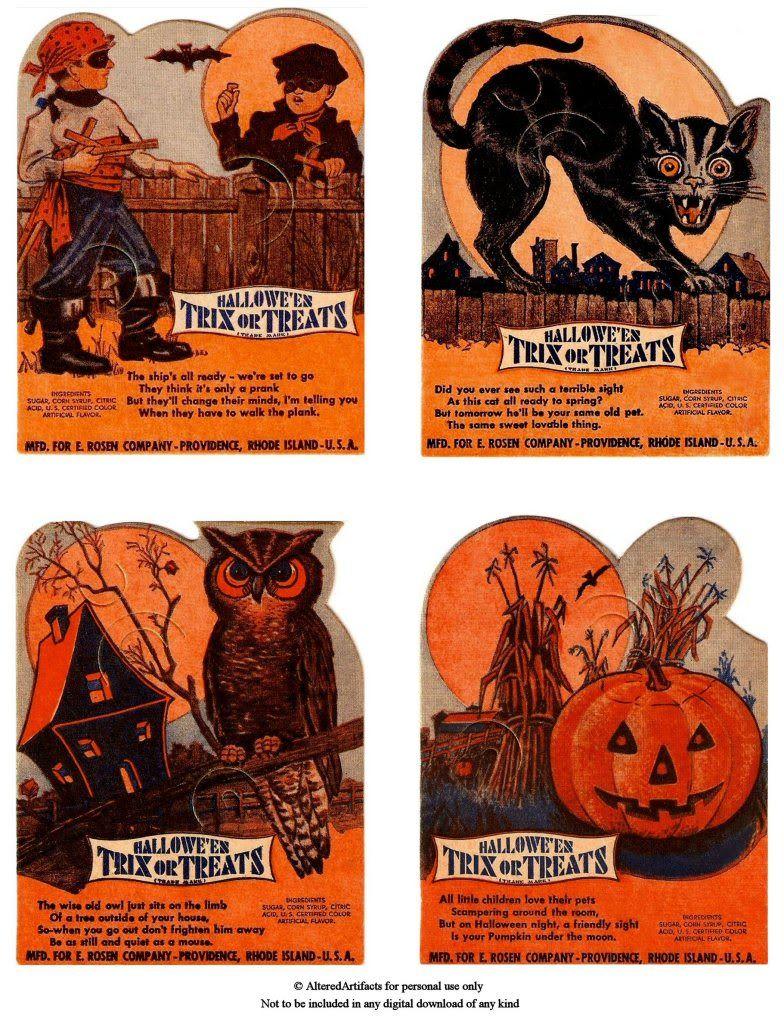 Free Halloween Printable Vintage Halloween Cards Vintage Halloween Printables Vintage Halloween