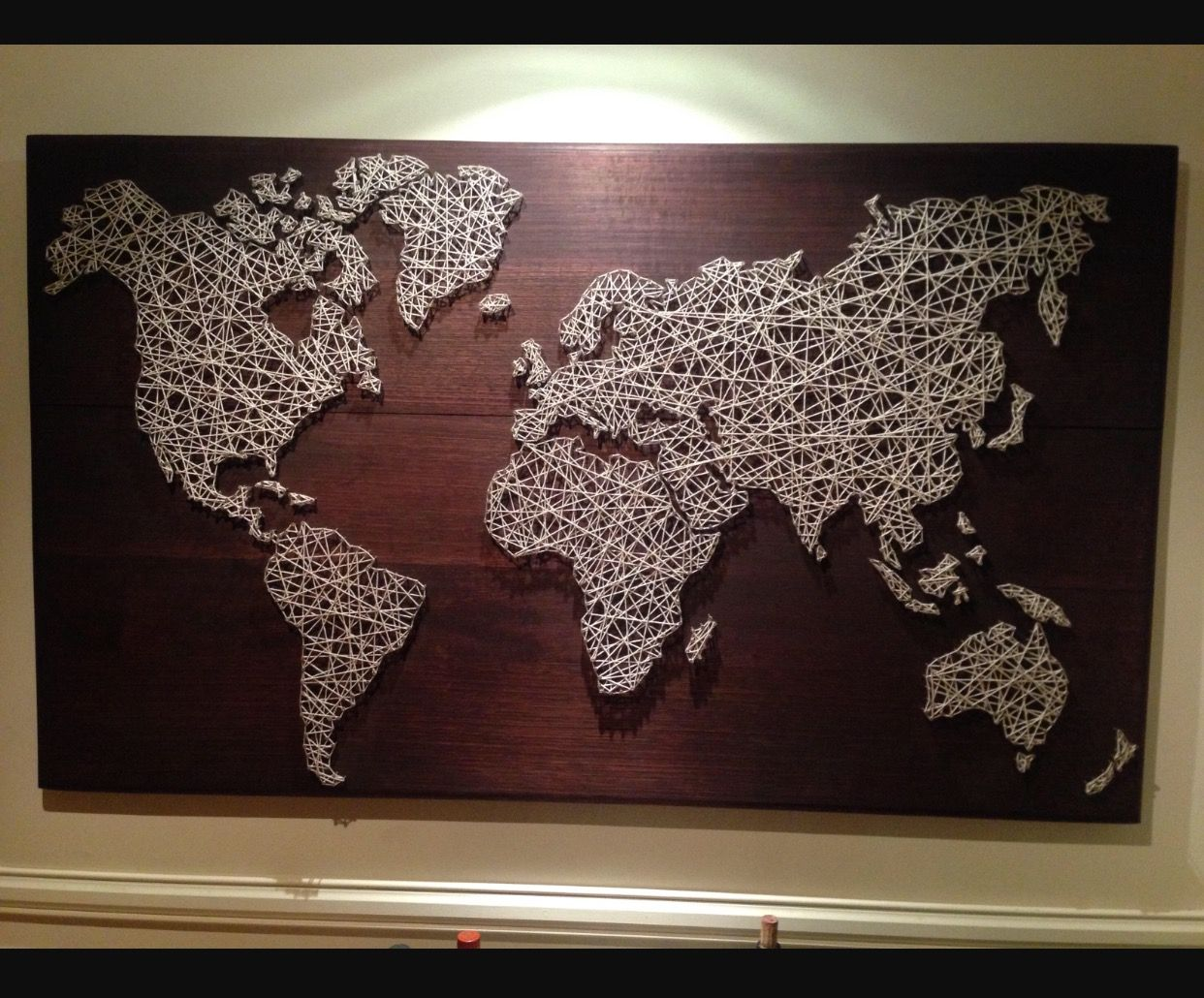 Pin by lauren porter on craft ideas pinterest string art craft other people take a more global approach like the artist who went big with an entire world map it took over a thousand nails and 150 meters of string to gumiabroncs Images