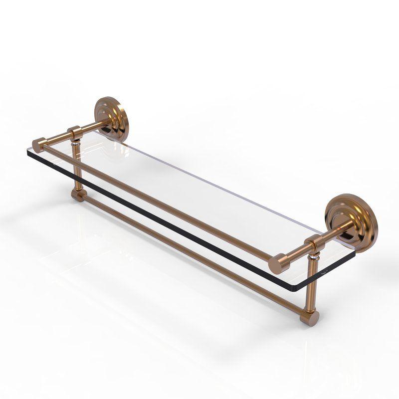 Allied Brass 22 in. Gallery Glass Shelf with Towel Bar - QN-1TB/22 ...
