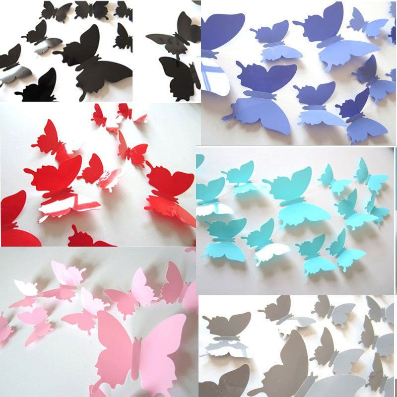1 29 3d Butterfly Sticker Art Design Decal Wall Stickers Home