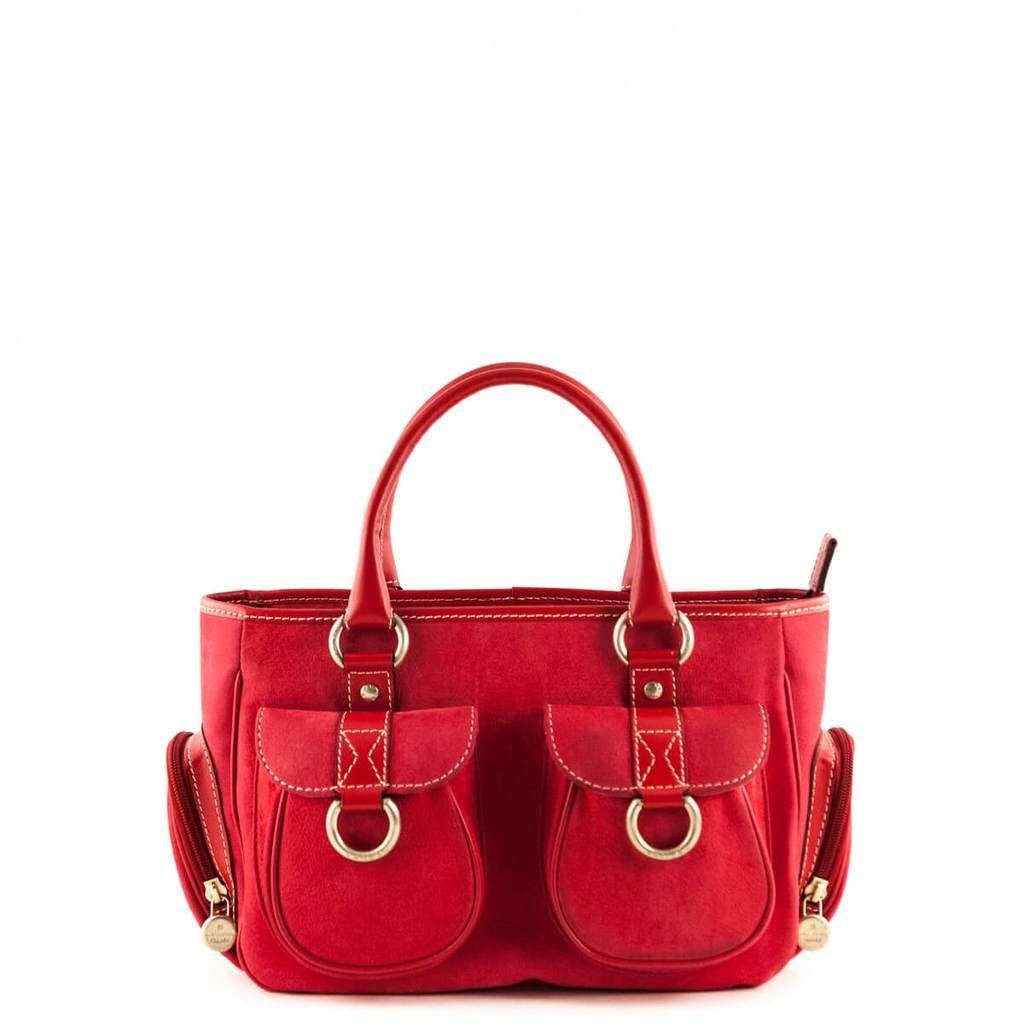9c10da0ea68f Lancel Pomegranate Medium Multi Pocket Tote - LOVE that BAG - Preowned  Authentic Designer Handbags -