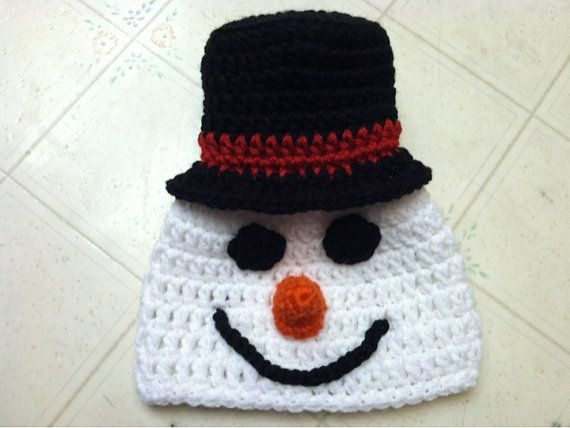 Snowman Hat Crochet Pattern Pattern Includes By Boutique7one7 4 50 Snowman Hat Pattern Crochet Hats Crochet Patterns