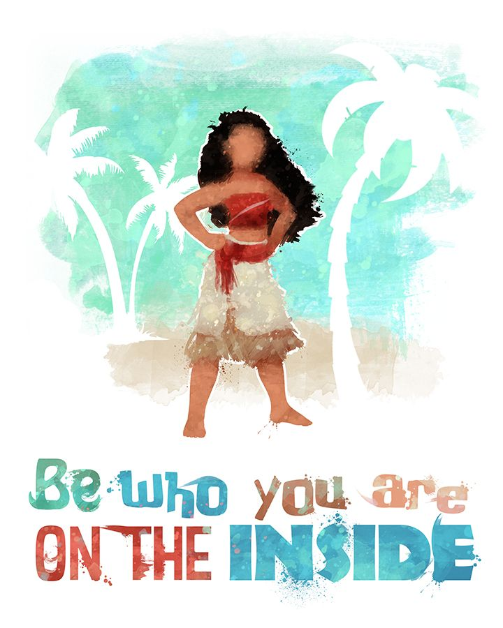 Moana Who You Are 60x60 Printable Poster DIGITAL Instant Amazing Savage Quotes Pics Download