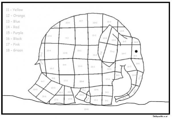 Elmer The Elephant Maths Activities (Free Downloadable) | Number ...