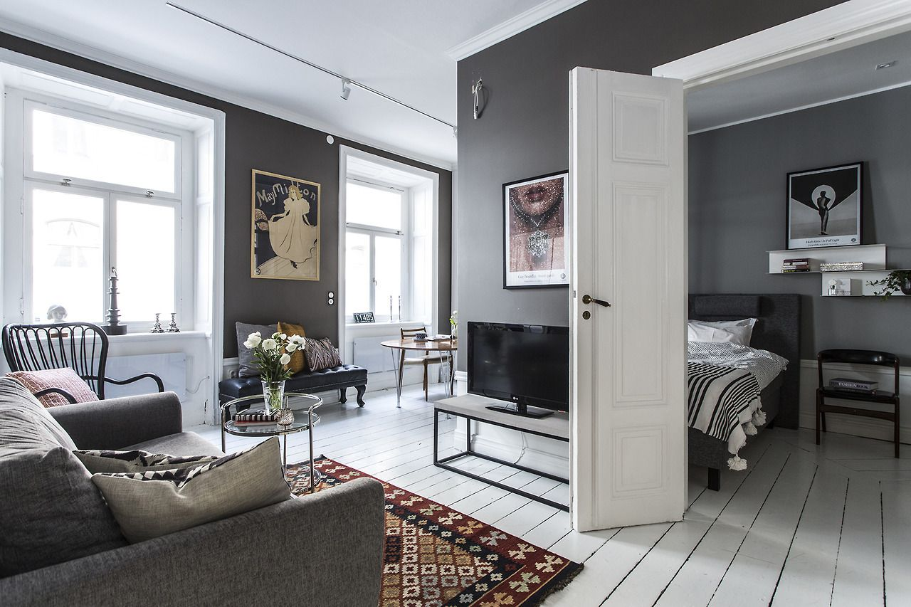 Small grey apartment // GREY WALLS // | HomeSweetHeavenlyHome in ...