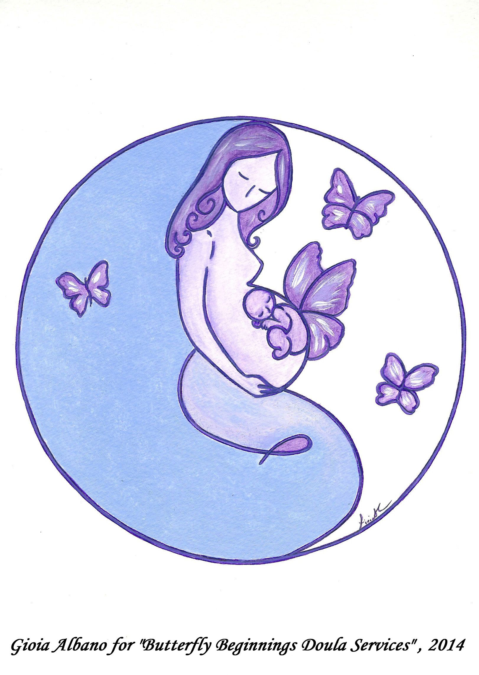 Logo For Butterfly Beginnings Doula Services Geburtsbegleitung