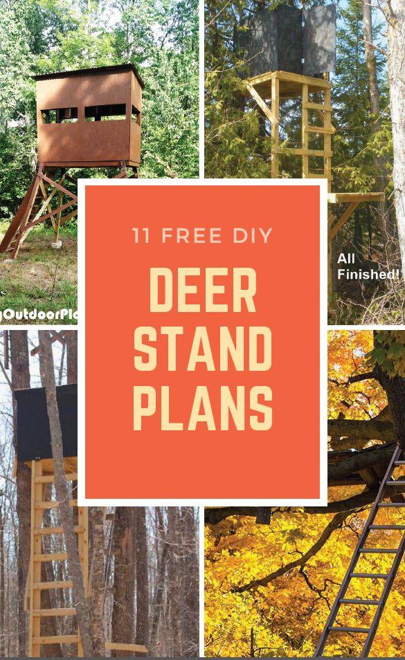 11 Free DIY Deer Stand Plans Deer stand plans, Deer