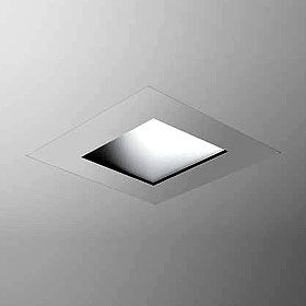 Square Trimless Recessed Showerlight Fixture