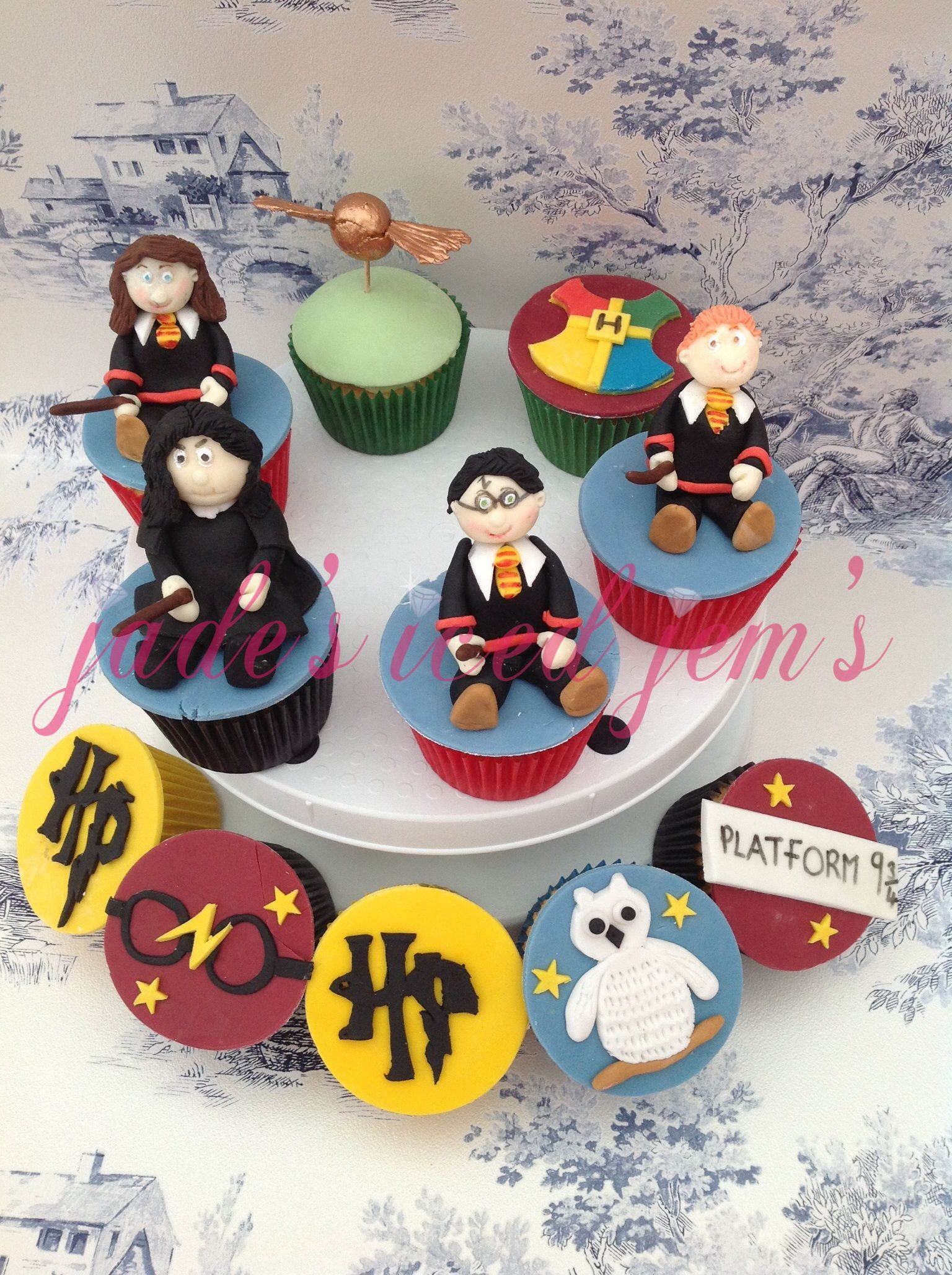 Harry Potter Cupcakes Ron Snape Hermione Cupcakes Harry Potter
