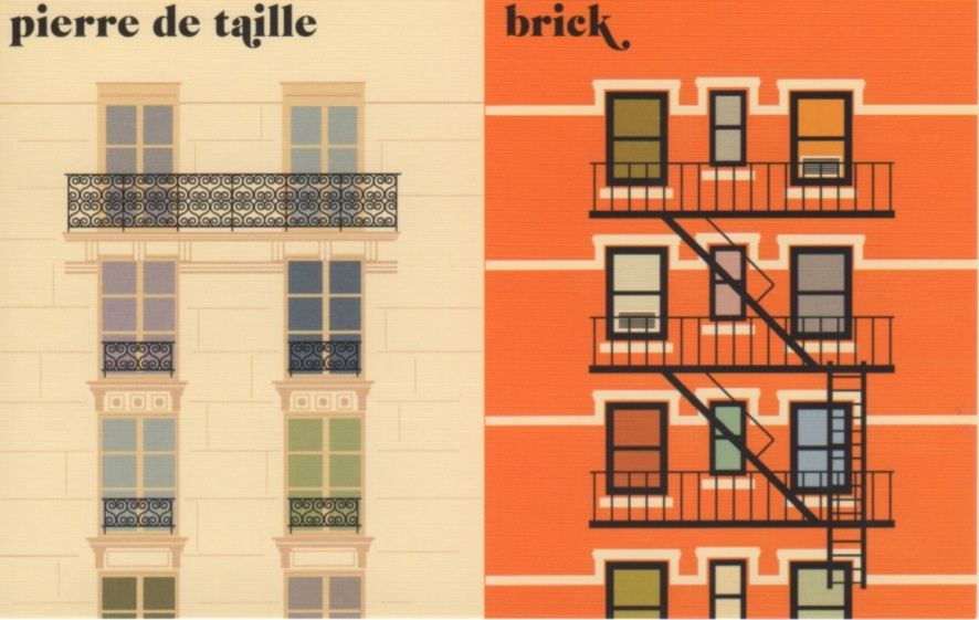 """la façade"" Pierre de Taille vs Brick Paris Vs New York by Vahram Muratyan"