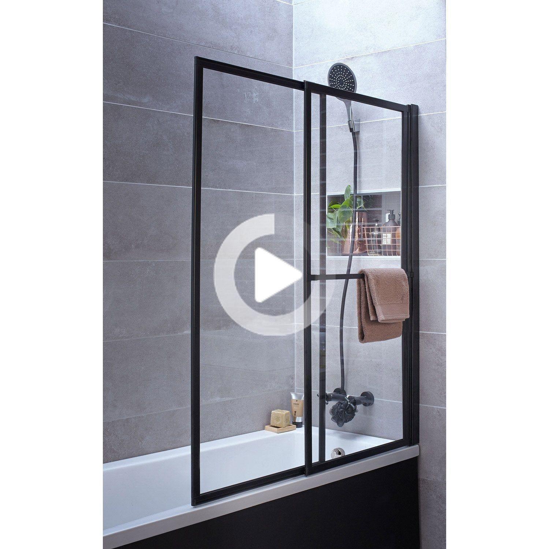 Pare Baignoire 2 Volets Pivotant Coulissant 140 X 123cm Verre Transparent Lift Atelier Du Bain In 2020 Bathroom Medicine Cabinet Transparent Storage