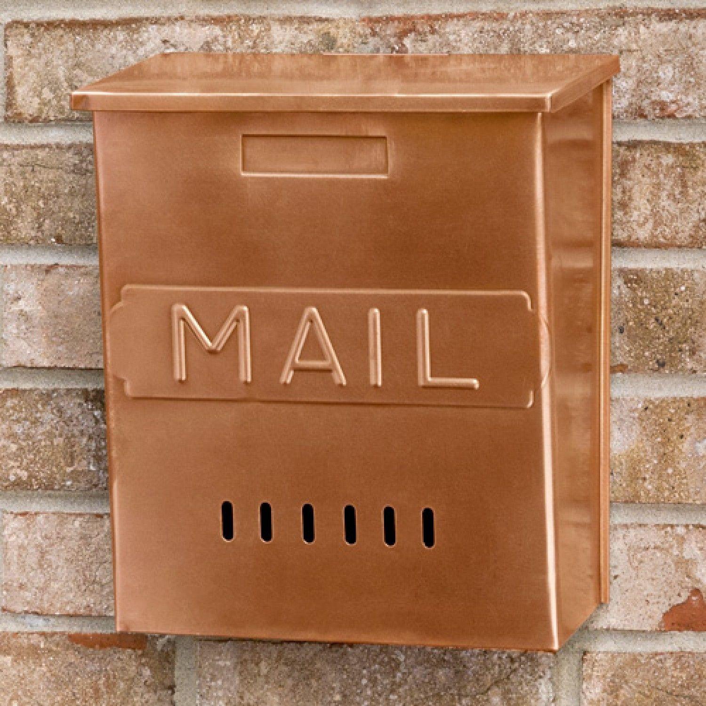Vertical Mail Wall Mount Copper Mailbox Antique Copper Mailboxes And Slots Outdoor Briefkasten Modernes Postfach Briefkasten