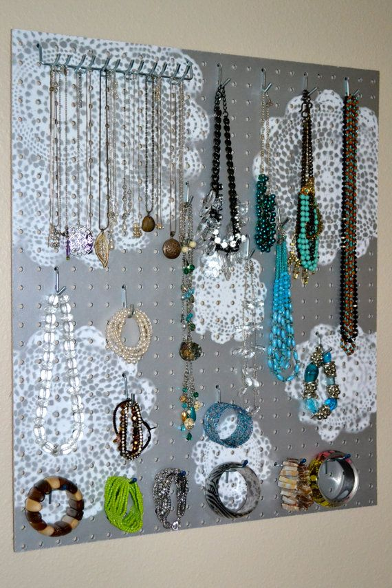 Jewelry Organizer Wall Display Jewelry Holder Custom Hand Painted