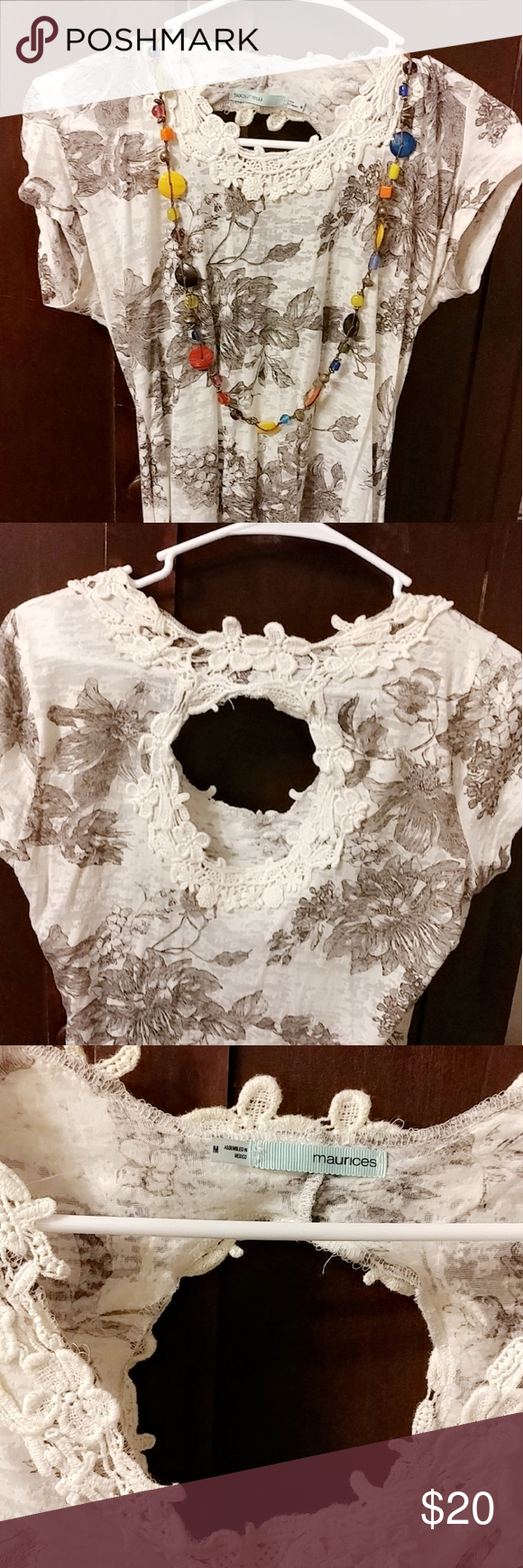 ✨Maurices Super Cute Top✨ Top with opening to back?Gypsy Boho BO HO hippi...
