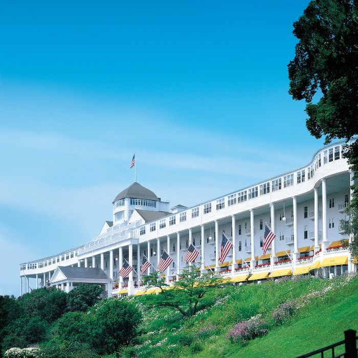 The Grand Hotel Mackinaw Island Michigan Longest Porch In The World 125th Anniversary Grand Hotel Mackinac Island Mackinac Island Grand Hotel
