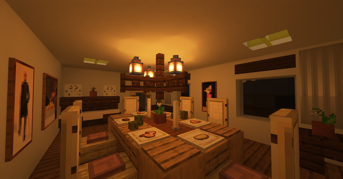 A Lively And Cozy Living Room Design Minecraft In 2020 Minecraft Room Minecraft Interior Design Minecraft Cottage