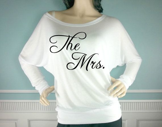 The Mrs. Off The Shoulder Shirt. Wedding Off The by TheSassyBride
