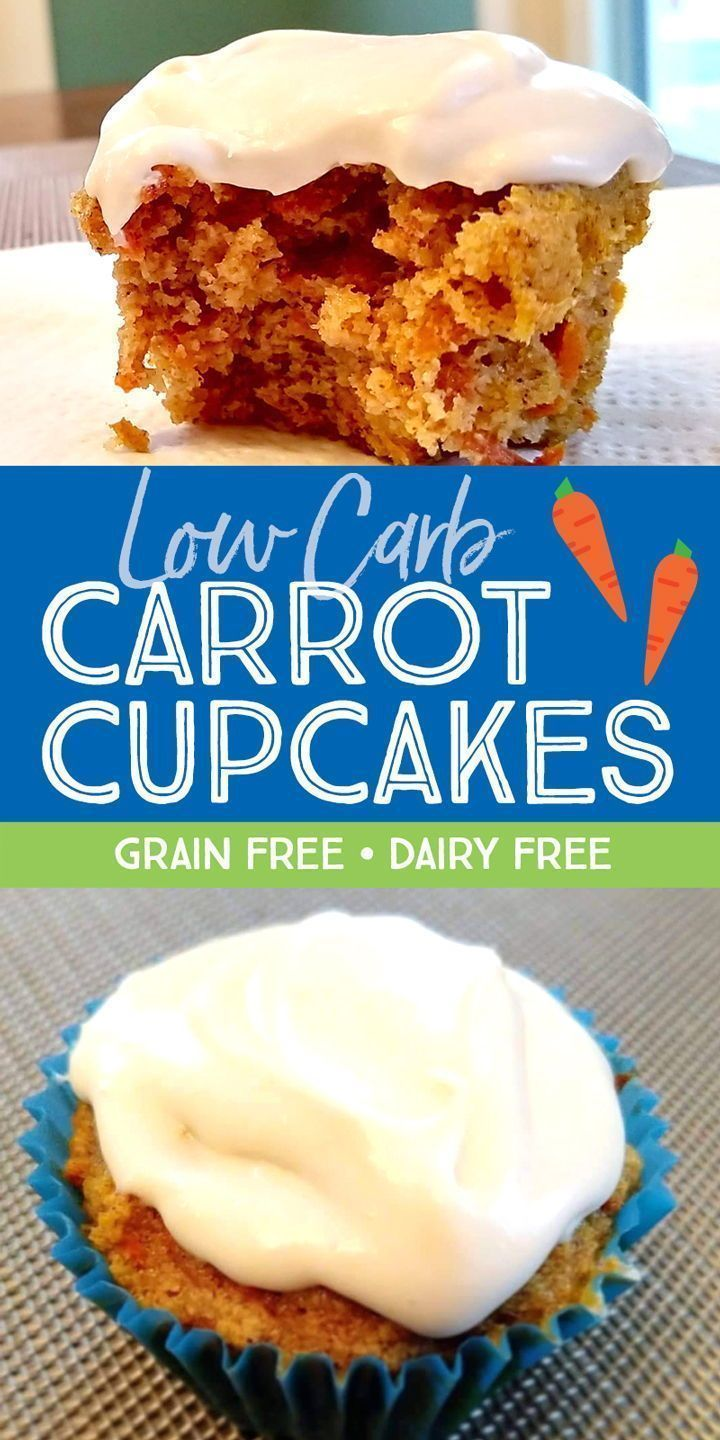 Carrot cupcakes with cream cheese topping low carb or