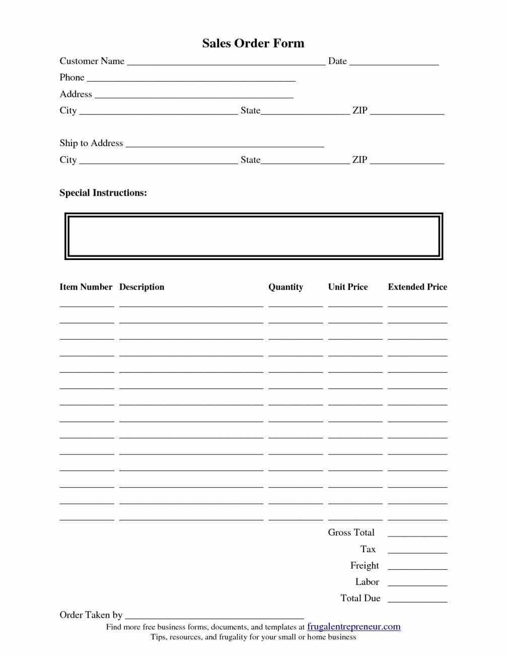 Need Templates For Order Forms An Efficient Way To Collect Orders