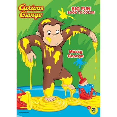 Curious George Coloring Activity Book Party City Curious George Birthday Party Curious George Party Favors Curious George Birthday
