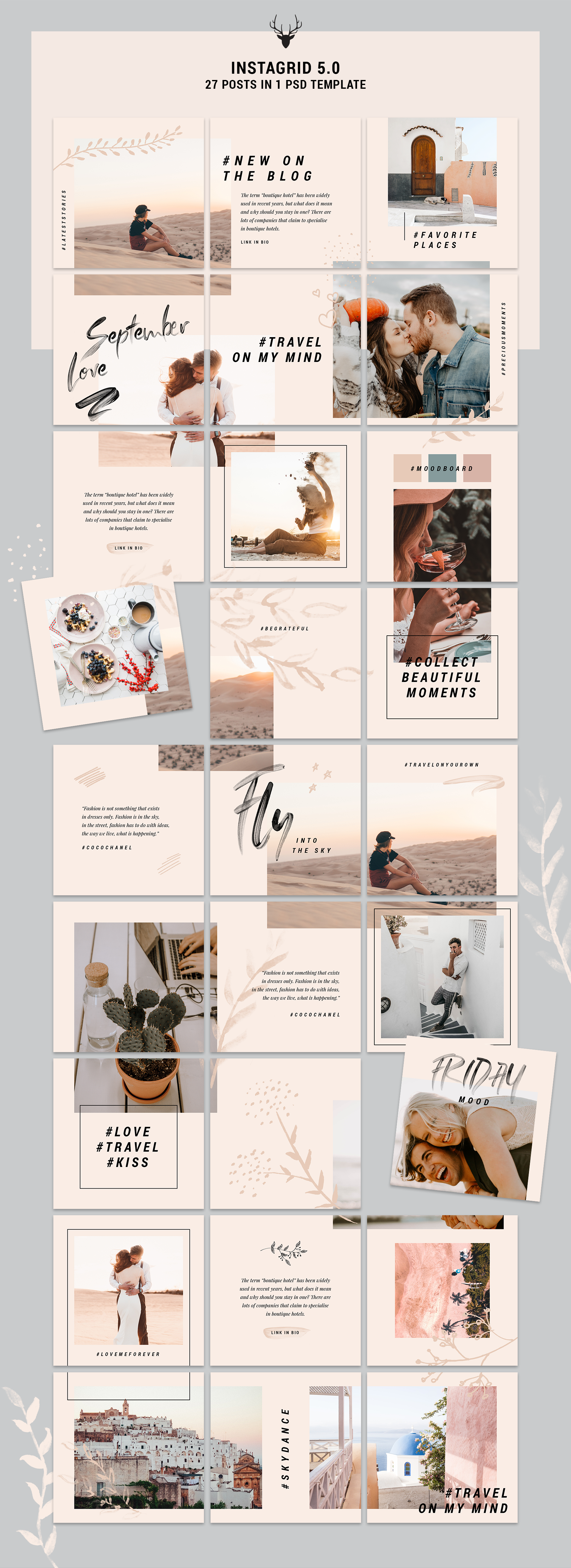 InstaGrid 5 0 - Creative & Modern Instagram Puzzle Template | Resume