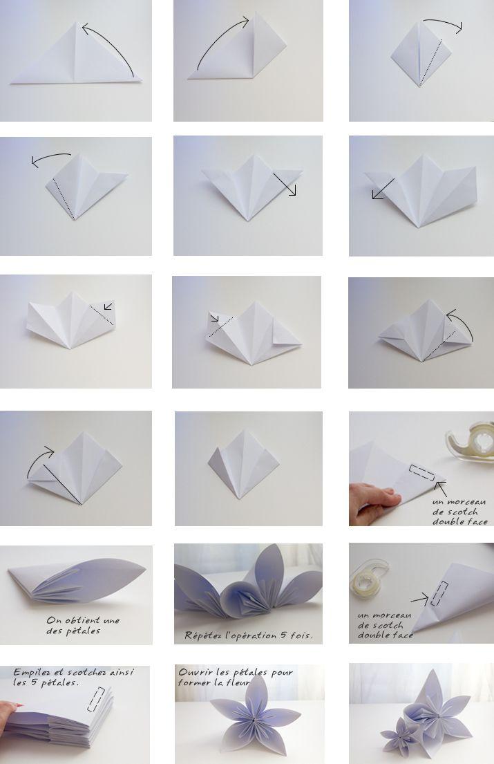 Tuto Fleur En Papier destiné les trucs de camille et lou: tuto origami fleur | créatif