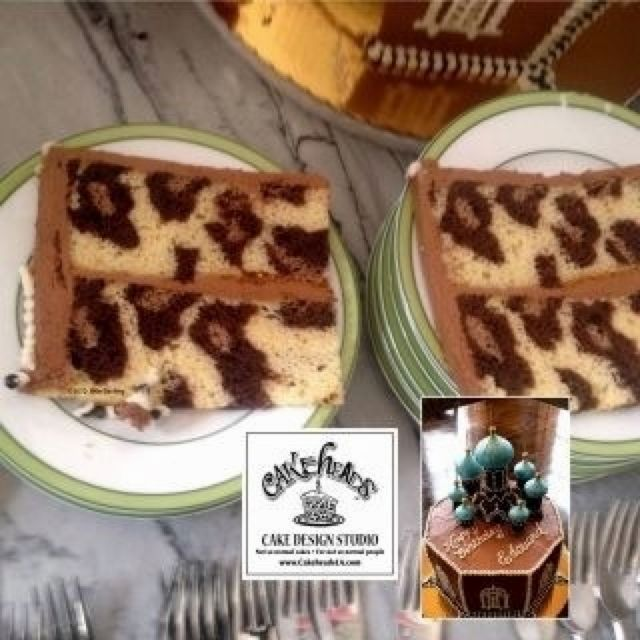 Leopard Design Cake No recipe :( But I'm determined to figure out how to make this (CakeHeads Cake Design Studio)
