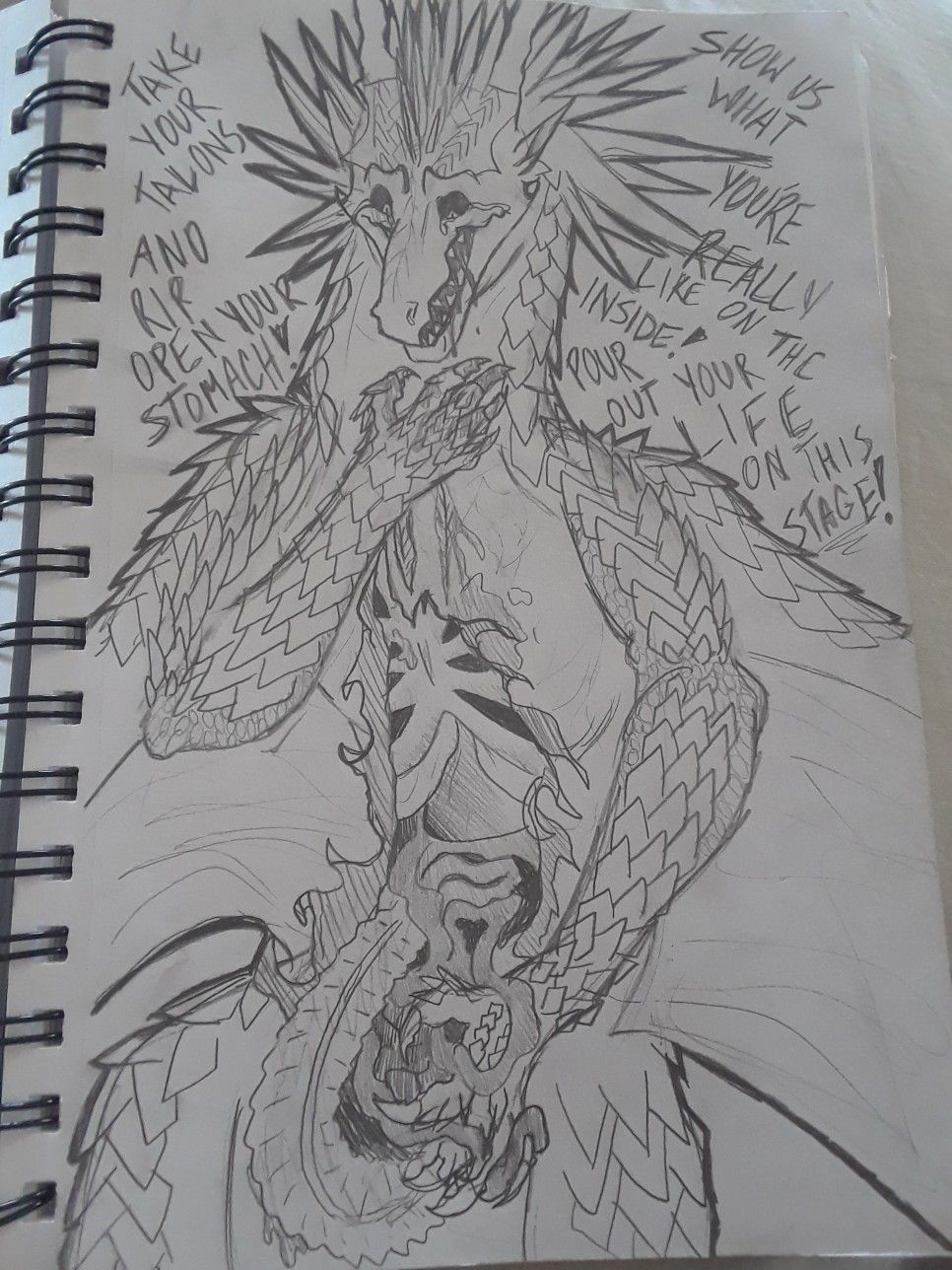 Prince Arctic Disembowelling Himself Wings Of Fire Darkstalker Legends Dragons Drawn By Babyechodragon Wings Of Fire Dragons Wings Of Fire Fire Art