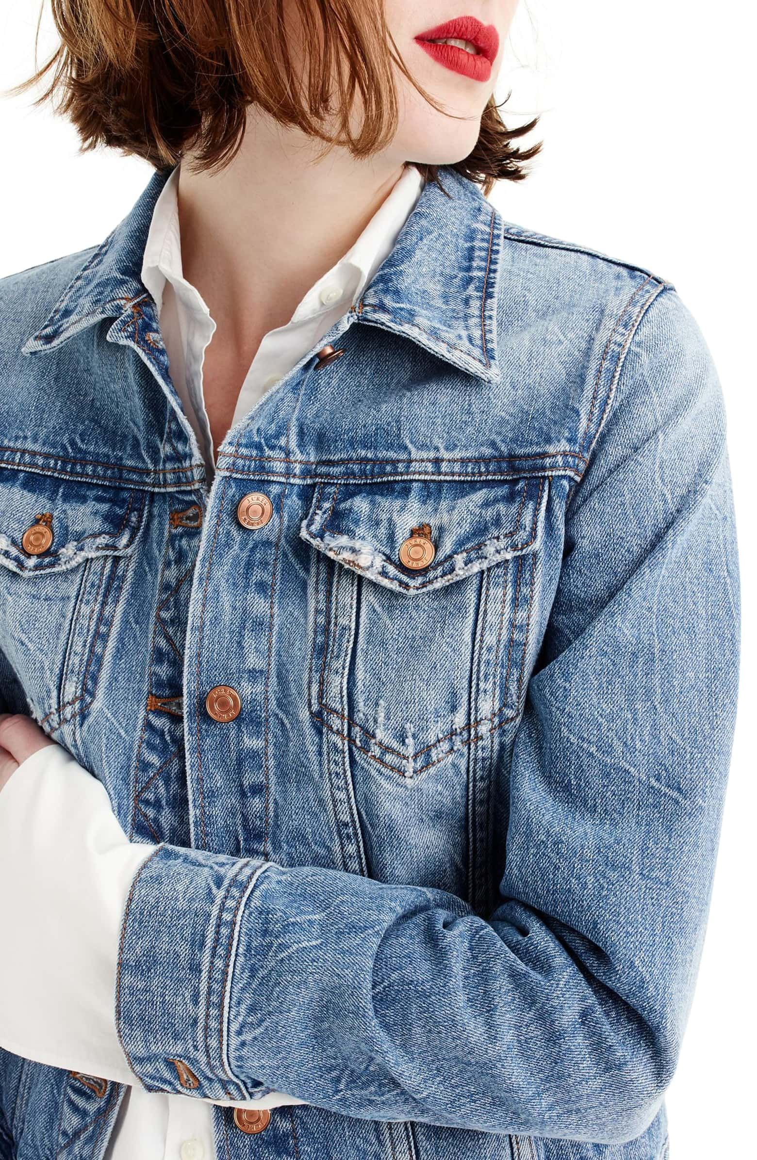 9815be3a7ce4 J.Crew Classic Denim Jacket (Regular & Petite) | Nordstrom ...