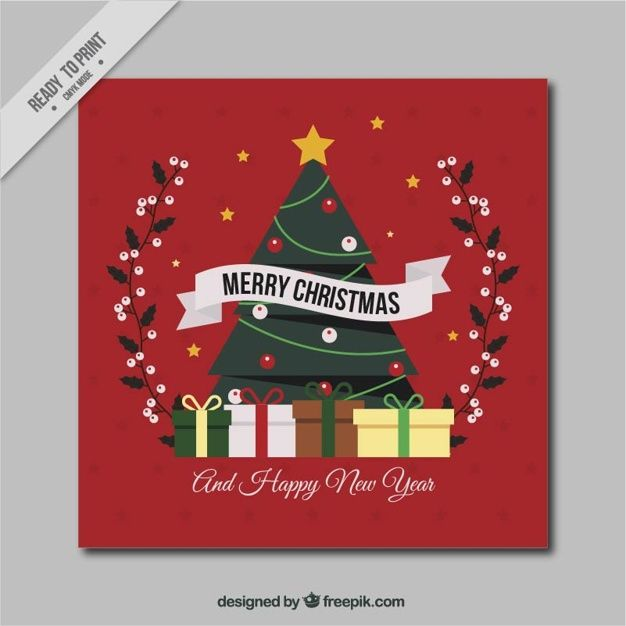 Download Christmas Tree Card With Gifts For Free Christmas Tree Cards Tree Cards Merry Christmas And Happy New Year