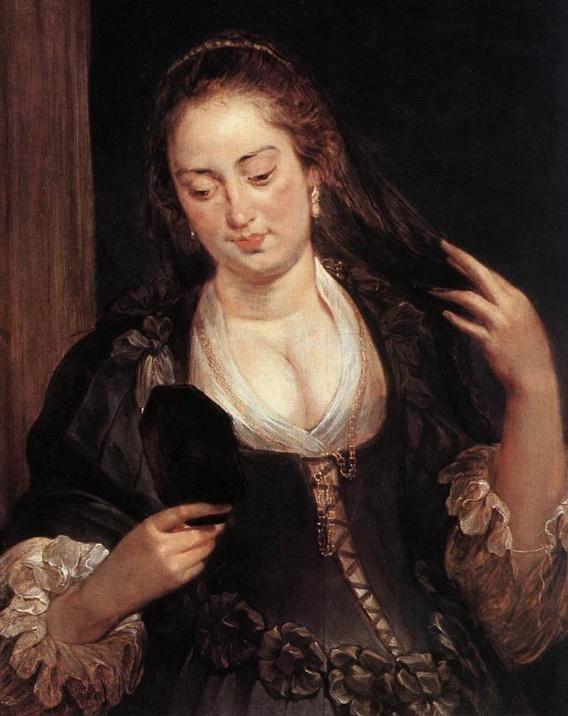 Peter Paul Rubens ( 1577-1640 ) 'Woman with a Mirror'   1640 Staatliche Kunstsammlungen, Kassel, Germany   #art