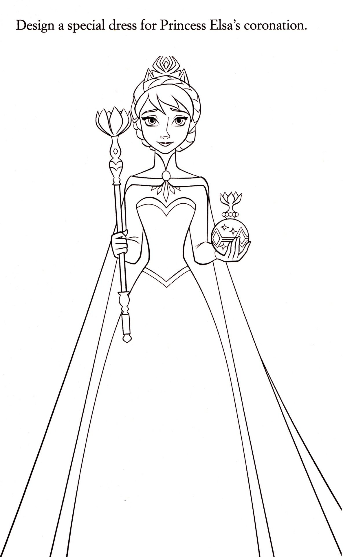 frozen cartoon characters coloring pages - photo#39