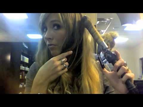 """lose waves curling tutorial. start from the top and twist down instead of going from the bottom up. uses a 1"""" curling iron."""