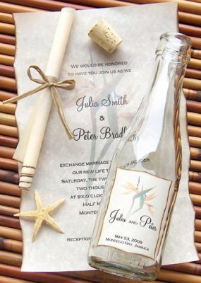 anchors aweigh message in a bottle invitations - perfect for a, Wedding invitations