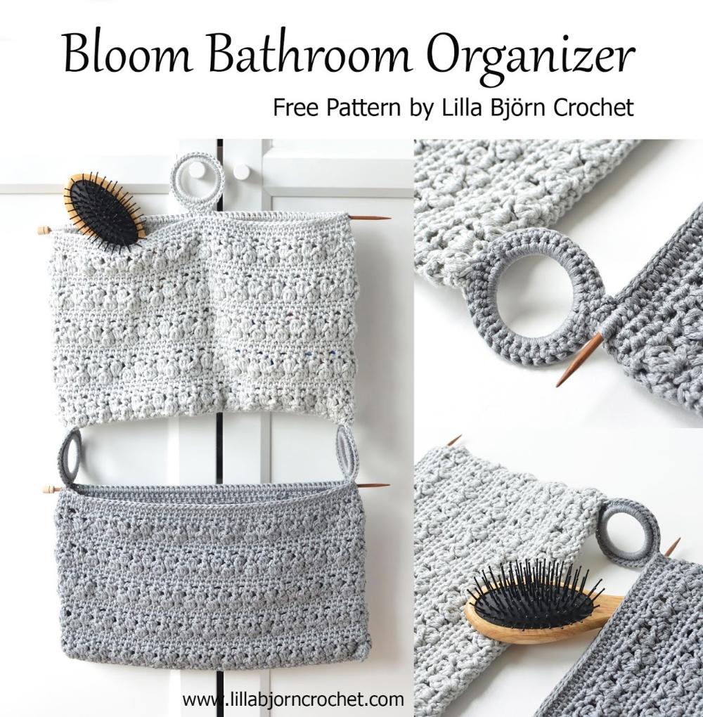 Organisateur de salle de bain Bloom: modèle de crochet gratuit   – _Crochet patterns_