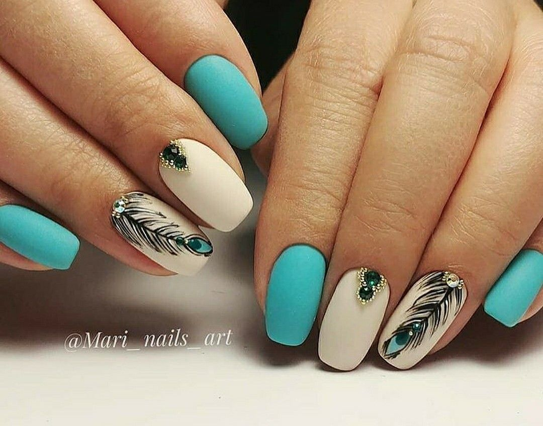 Pin by Erica Rivera on Charovskis | Blue acrylic nails