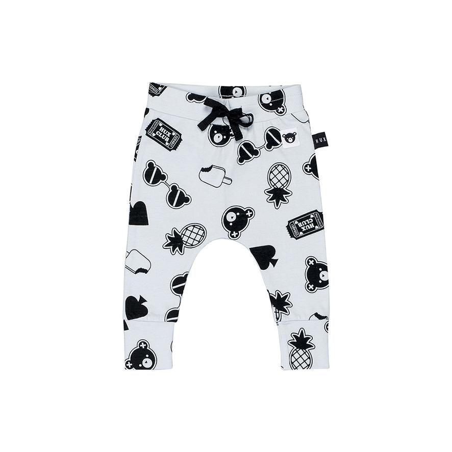 a72ea2c4d332 Huxbaby Organic Patches Drop Crotch Pants