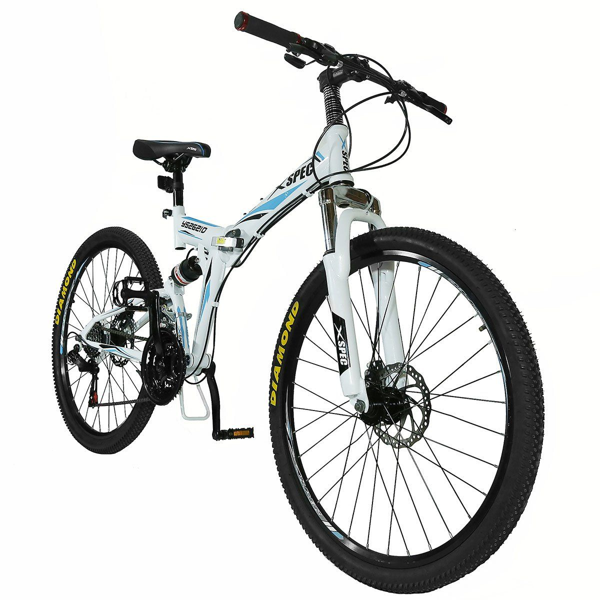 Xspec 21 Speed 26 Folding Mountain Bike Bicycle Trail Folding Bike