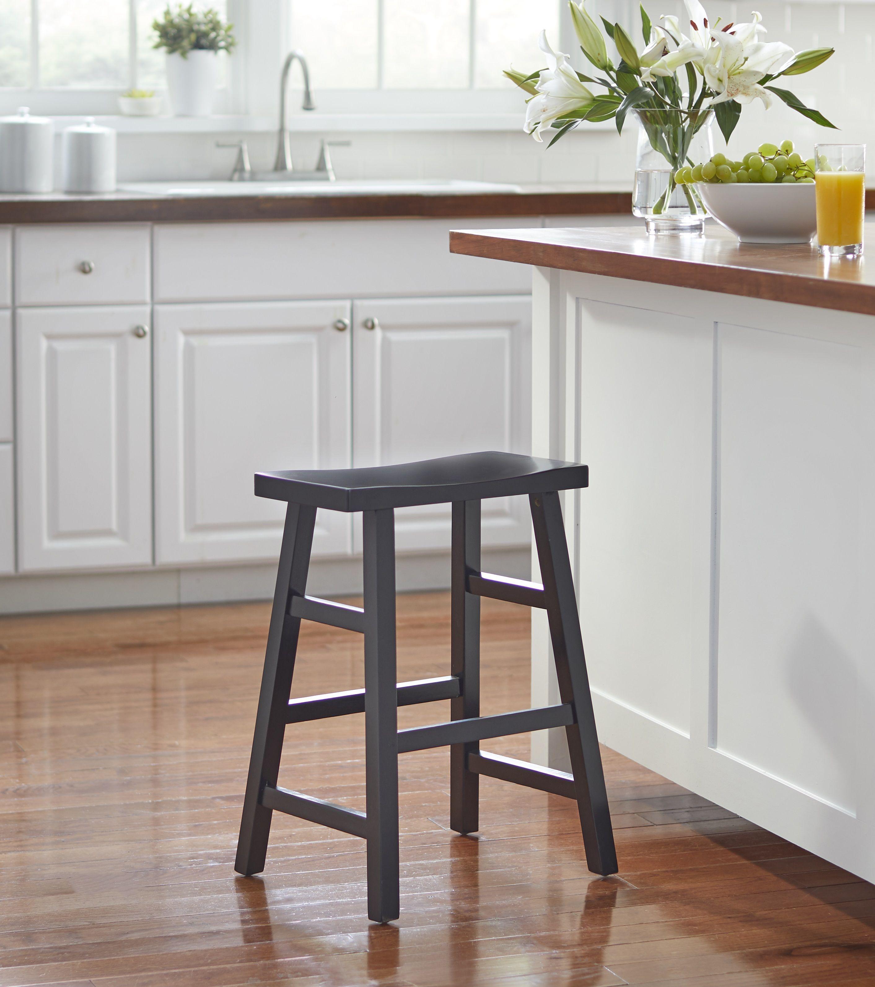 Mainstays Counter Height Saddle Bar Stool 24 Black Walmart Com In 2021 Bar Stools Saddle Bar Stools Bar Stools Kitchen Island