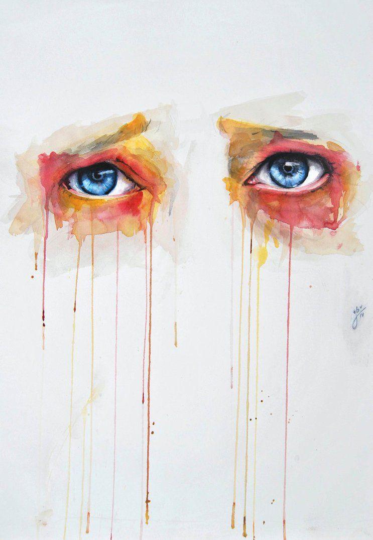 Olhos Sao As Janelas Da Alma Por Jone Bengoa Ojos Acuarela