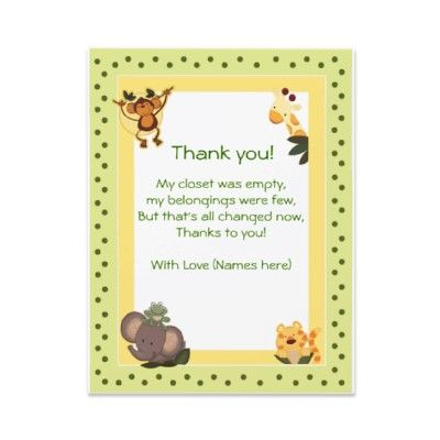 Baby Shower Thank You Notes To Match The Invitations. Created In