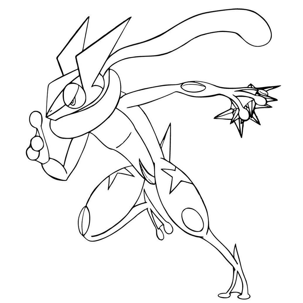 Greninja Coloring Pages Of Pokemon Com Imagens Pokemon Para