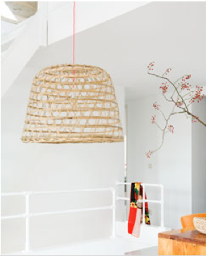 DIY: Basket Becomes Pendant Light Shade